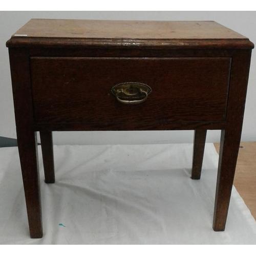 635 - Oak Sewing Box...