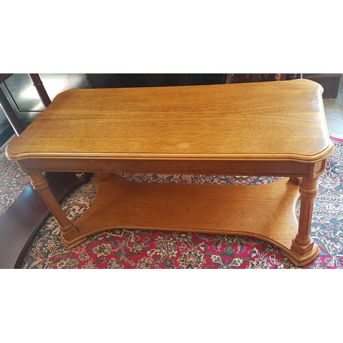 638 - Oak Two Tier Coffee Table, c.43 x 19in...