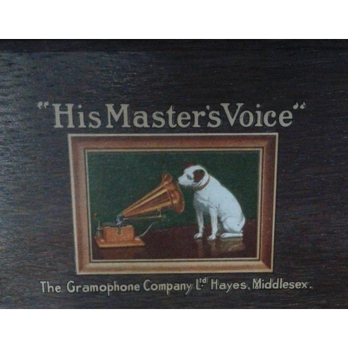 669 - Oak Case HMV Table Top Gramophone...