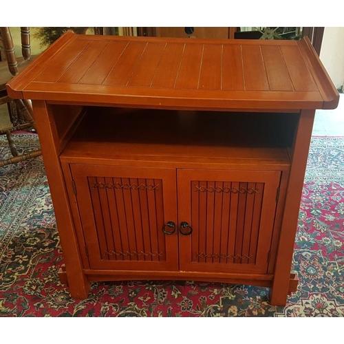 672 - Eastern Hardwood Side Cabinet, c.35in wide, 33in tall...