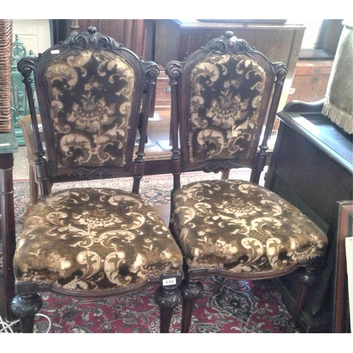 644 - Pair of Victorian Side Chairs...