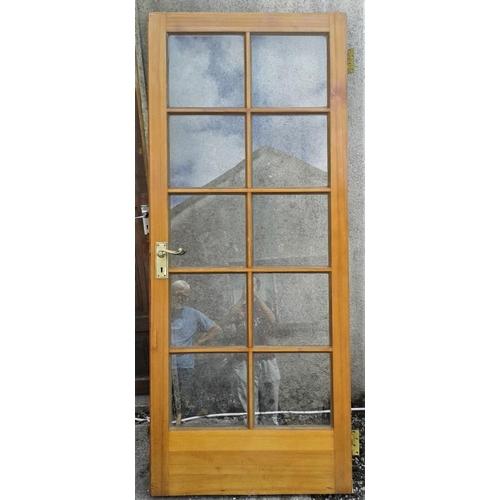 2 - Pair of Internal/External Glazed Doors - 32 x 77ins...