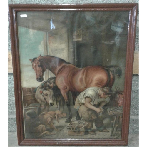 44 - Framed 'Pear's' Print - Blacksmith - Overall c. 20 x 25ins...