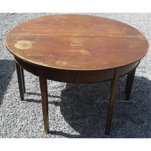 33 - Three Georgian Half Moon Side Tables, 4ft wide each...