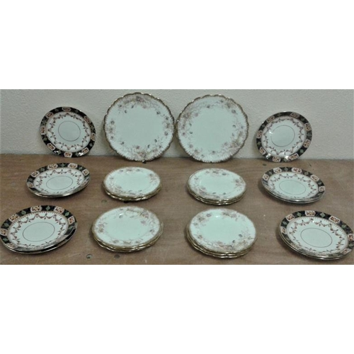 6 - Two Sets of Victorian Plates, one with 2 Cake Plates...