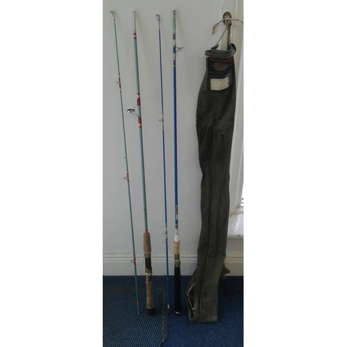 12 - Box of Fishing Reels and a 1970's 'Pegley Davies' Fishing Rod...