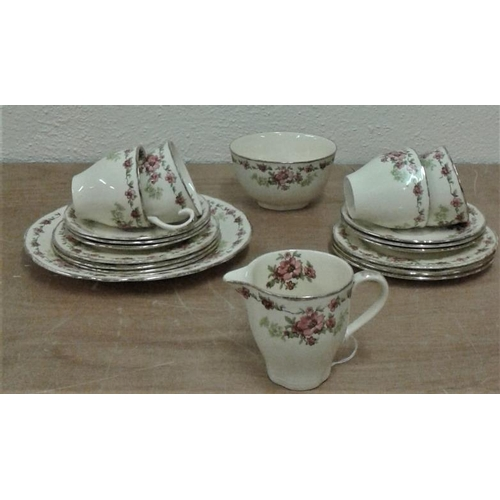 28 - Part Meakin 'Rosecliffe' Teaset (19 pieces)...