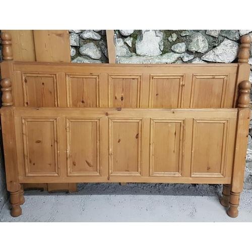 37 - Pine Bed Frame - 5ft wide...