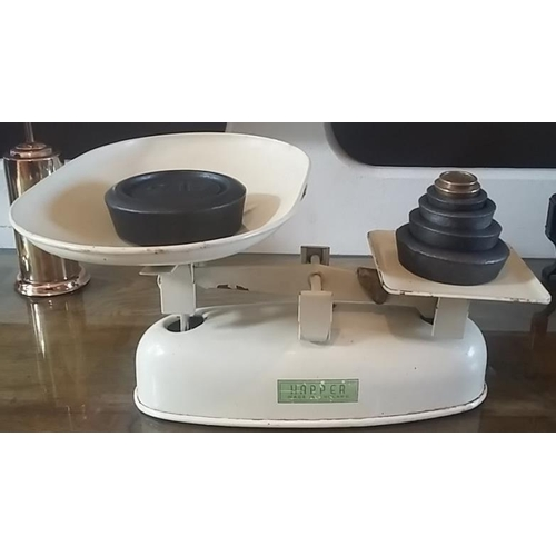 38 - Set of Harper Kitchen Scales and set of weights...