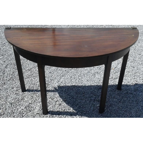49 - Three Georgian Half Moon Side Tables, 4ft wide each...
