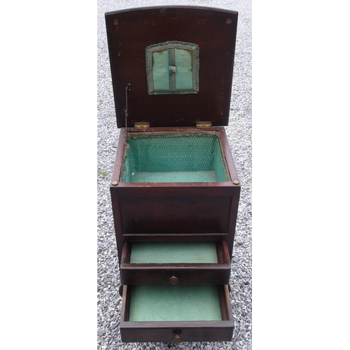 56 - Mahogany Sewing Box - c. 14 x 14 x 22ins...
