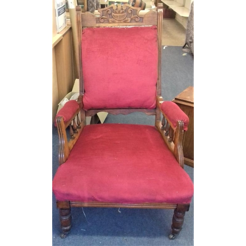 66 - Pair of 'His & Her' Edwardian Armchairs...