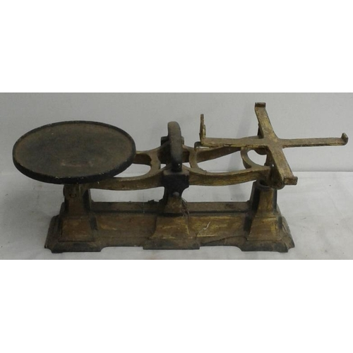 101 - Victorian Cast Iron Weighing Scales...