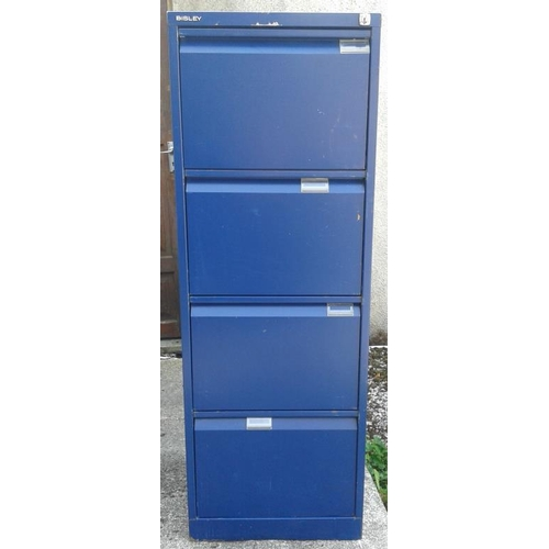 102 - Four Drawer Filing Cabinet with Key...