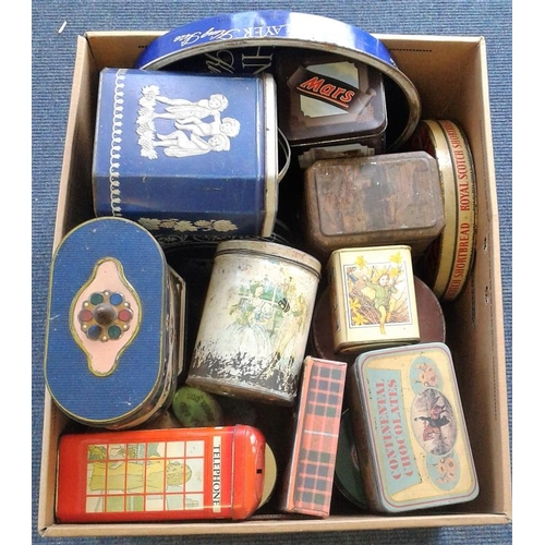 108 - Box of Assorted Tins...
