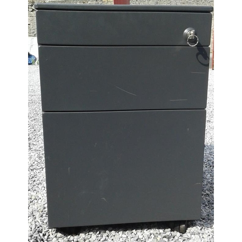 132 - Office Pedestal with Key - c. 16 x 23ins...
