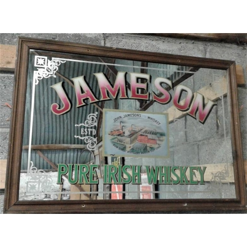 153 - 'Jameson' Advertising Mirror - 25 x 35ins...