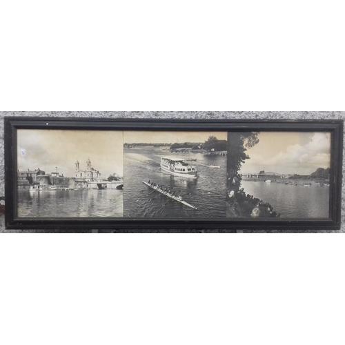 205 - Framed Scenes of Athlone, c.77 x 25.5in...
