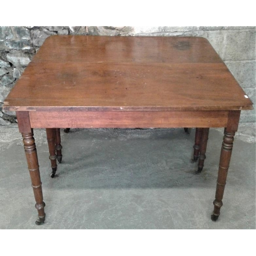 46 - Two Sections of a Georgian Mahogany Economy Dining Table, c.42 x 41in...