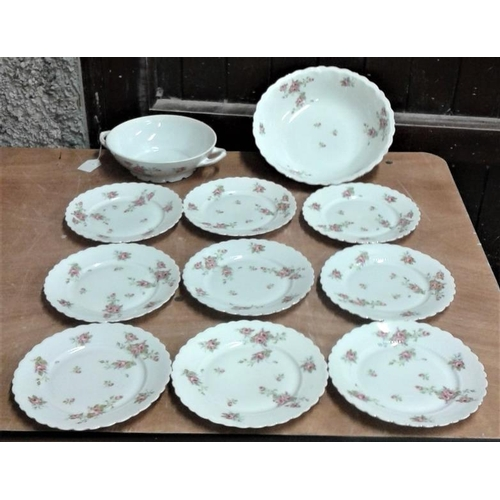 25 - Collection of Nine Plates and Two Large Vegetable Bowls...
