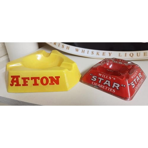236 - Afton Ashtray by Arklow Pottery and a Wills's Star Cigarettes Ashtray (2)...