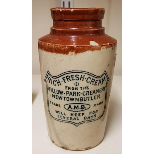 245 - Willow Park Creamery Newtownbutler Cream Pot, c.5.5in tall...