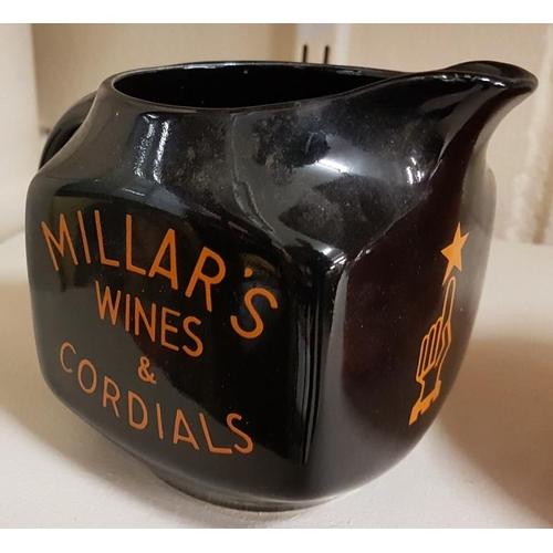 254 - Millar's Whiskies, Wines & Cordials Water Jug by Arklow...