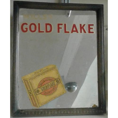 267 - 'Goldflake' Counter Top Mirror - 9 x 11ins...