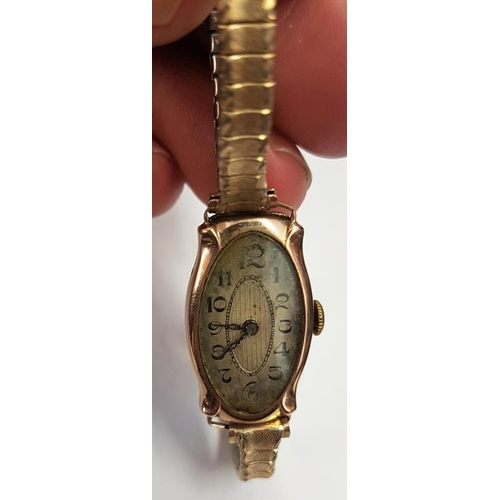 332 - 9ct Gold Lady's Wrist Watch with expandable bracelet...