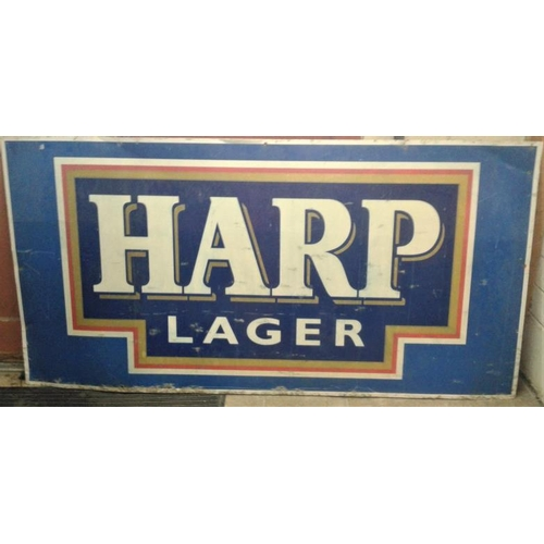 10a - Large Harp Advertising Sign, c.71 x 36in...