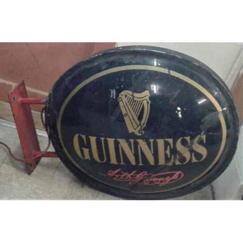 98a - Hanging 'Guinness' Double Sided Advertising Sign, c.35 x 26in...