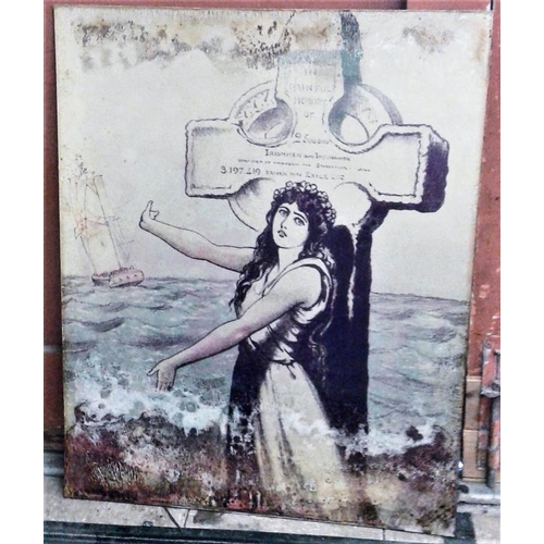 18a - Irish Famine Sign, c.24 x 29.5in...