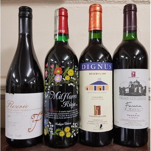 420 - Four Bottles of Wine - Dignus Reserva 1995, Milflores Rioja , Gran Colegiata Reserva 1995 and Fleuri...