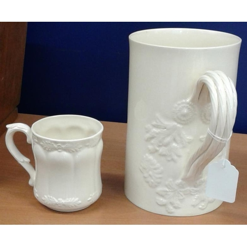 439 - Large Creamware Jug and a Creamware Mug...