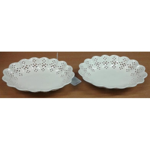 443 - Two Creamware Plates and Two Dishes...