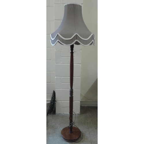 449 - Standard Lamp with Shade, c.57in tall...