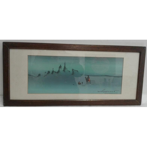 507 - Pair of Framed Prints - 'Desert Scenes' - Overall c. 21 x 9.5ins...