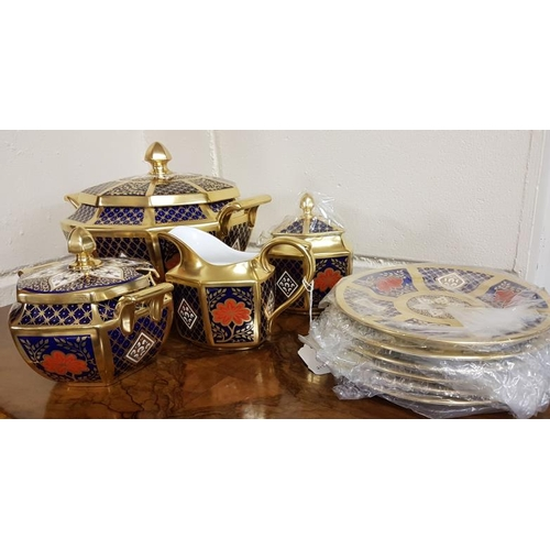 508 - Eleven Pieces of Romany China -7 Plates, 3 Lidded Dishes and a Jug...