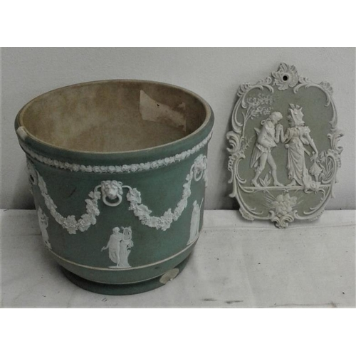 629 - Wedgwood Plant Holder and Wall Plaque...