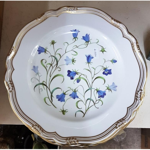 632 - Five Spode Cabinet Plates - Wildflower Series...