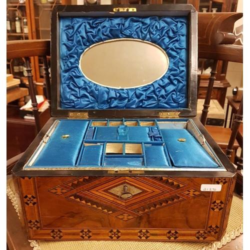 666 - Tonbridge Jewellery Box, c.12in wide, 6in tall...