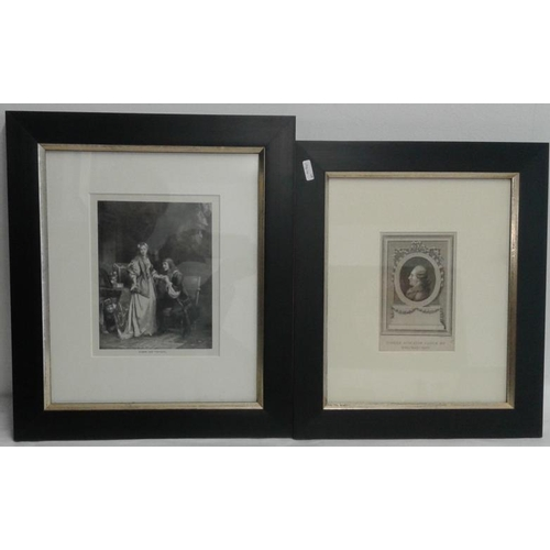 718 - Two Framed Prints - 'Elmire & Tartuffe' and 'Pierre Augustin' and Framed Theatre Royal Programme...
