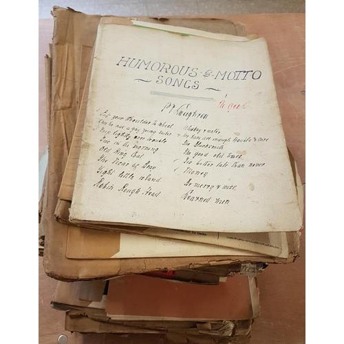672 - Large Bundle of Sheet Music...