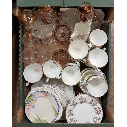 42C - Box of Tea Sets etc....