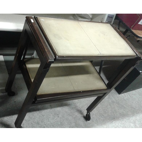 74a - Trolley/Table, c.27in wide x 30in tall...