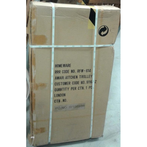 100a - Kitchen Trolley (Butcher's Block Type) (packed in original packaging, never used)...
