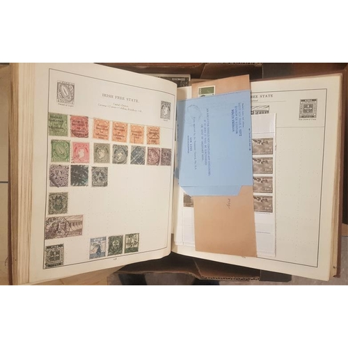 8 - Stamp Album and a Box of Various Postage Stamps...