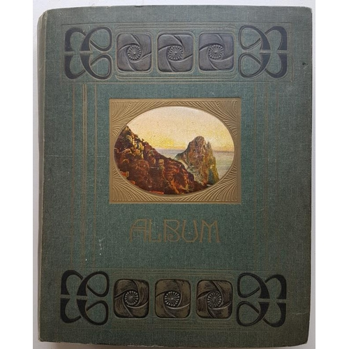 10 - Fine Decorative Victorian Album containing over 300 old Irish cards...
