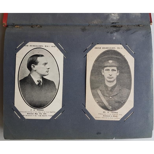 11 - Fine Old Decorative Postcard Album containing about 100 o1d Irish cards including scarce 1916 leader...