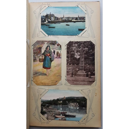 12 - Victorian Post Card Album containing 80 old Irish cards...
